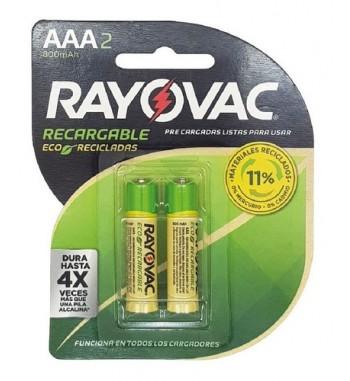 PILA AAA RECARGABLE RAYOVAC x1